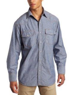 Key Apparel Men's Big Tall Long Sleeve Western Snap Pre Washed Chambray Shirt at  Men�s Clothing store