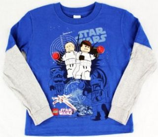 "Star Wars Lego ""Target"" Blue Young Boys Tee Shirt Top Size S L (S) Fashion T Shirts Clothing"