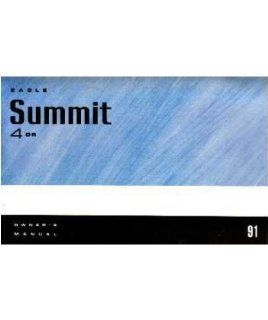 1991 Eagle 4 Door Summit Owners Manual User Guide Reference Operator Book Fuses Automotive