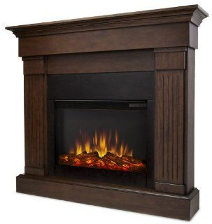 Real Flame Crawford Electric Slim Line Fireplace in Chestnut Oak   Plug In Fireplaces