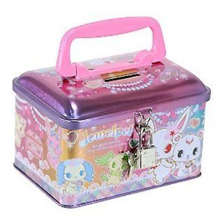 Sanro Jewelpet Coin Piggy Bank Saving Money Case Jewelry Makeup Candy Secret Metal Box with Lock Toys & Games