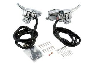 Chrome Complete Handlebar Control Kit for Harley Davidson 1996 2012 Touring Models with Radio & Cruise Controls Automotive