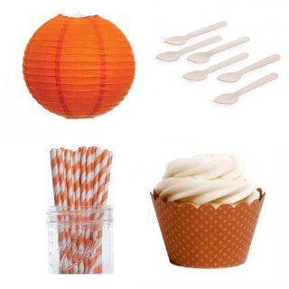 Dress My Cupcake DMC432526 Dessert Table Party Kit with Lanterns and Mini Wrappers, Burnt Orange Kitchen & Dining
