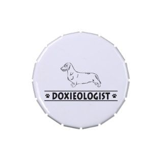 Funny Dachshund   Wirehaired Jelly Belly Tin