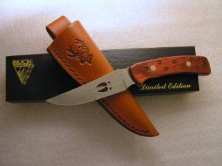 Buck Knives 475 Laminated Rosewood with Deer Tracks : Fixed Blade Camping Knives : Sports & Outdoors
