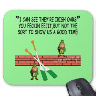 Funny Irish leprechauns Mouse Pads