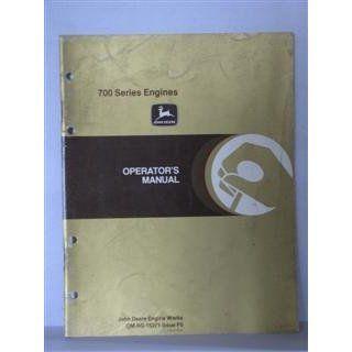 john deere 700 series engines operators manual issue F5 November 1984 by John Deere John Deere Books