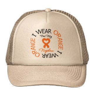Multiple Sclerosis Orange Ribbon Nephew Mesh Hats