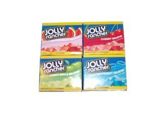 Jolly Rancher Jello 1 Green Apple, 1 Cherry, 1 Watermelon, 1 Blue Raspberry, 2.79oz Box (Pack of 4)  Gourmet Food  Grocery & Gourmet Food
