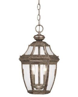 Savoy House Lighting 5 494 BK Endorado Collection 2 Light Outdoor Hanging Entry Lantern, Black Finish with Clear Glass   Pendant Porch Lights