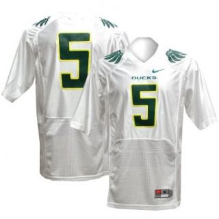 NCAA Nike Oregon Ducks #5 Twill Football Jersey   White (XX Large) : Sports & Outdoors