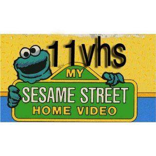 sesame street set 11 vhs Emmet Otter's JugBand Christmas, Sesame Street   Elmo Says Boo, Jim Henson Video The Tale of the Bunny Picnic, Sesame Street   Zoe's Dance Moves , Count It Higher Music Videos, Sesame Street   Learning to Share, Sesame St