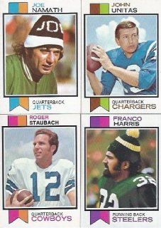 1973 Topps Football Complete 528 Card Set Exmt to Nrmt to Mint   Contains Franco Harris Rookie, Hall of Famers Joe Namath , Johnny Unitas, Roger Staubach and Many More Sports Collectibles