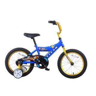 Titan Champion 16 inch Blue/ Gold Boys BMX Bike Titan Bicycles