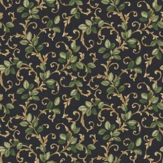The Wallpaper Company 8 in. x 10 in. Black and Green Leaf Trail Wallpaper Sample WC1283197S