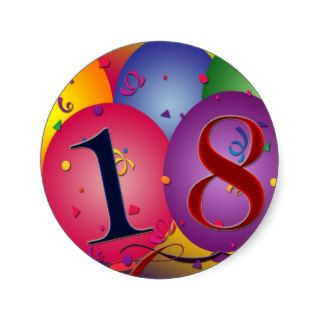Happy 18th Birthday! Round Sticker