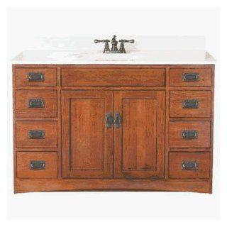 48X21 MISSION OAK VANITY (Sunnywood Prod. FR4821D)   Bathroom Vanities