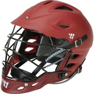 WARRIOR TII Matte Lacrosse Helmet, Maroon
