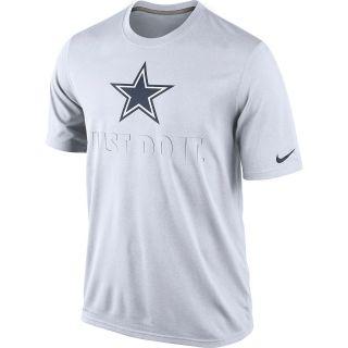 NIKE Mens Dallas Cowboys Legend Just Do It Dri FIT Short Sleeve T Shirt Size 1832c7b2c
