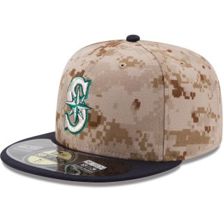 NEW ERA Mens Seattle Mariners Memorial Day 2014 Camo 59FIFTY Fitted Cap   Size: