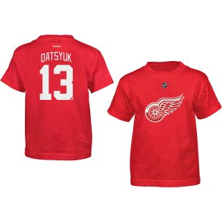 REEBOK Youth Detroit Red Wings Pavel Datsyuk Player Team Color HD Short Sleeve