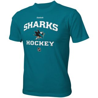 REEBOK Youth San Jose Sharks Authentic Predecessor Team Color HD Short Sleeve T