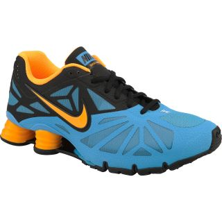 NIKE Mens Shox Turbo 14 Running Shoes   Size 13, Blue/black