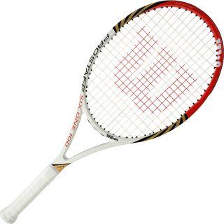 WILSON Pro Staff Six.One 100 BLX Tennis Racket   Size: 3, White/red