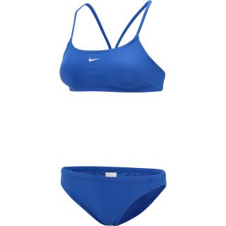 NIKE Womens Core Solid Two Piece Swimsuit   Size 14, Royal