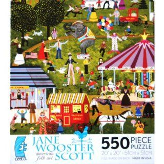 Jane Wooster Scott american folk art Carnival Time at Willow Bend 550 Piece Puzzle Toys & Games
