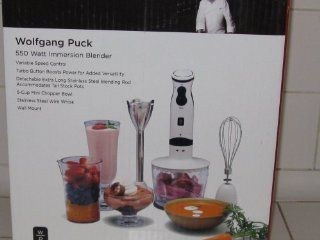Wolfgang Puck 550 W Immersion Blender/Chopper   White Electric Hand Blenders Kitchen & Dining