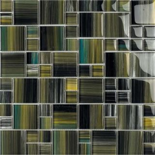 EPOCH Contempo Tatara 1671 Mosaic Glass Mesh Mounted Tile   4 in. x 4 in. Tile Sample DISCONTINUED TATARA SAMPLE