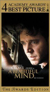 A Beautiful Mind (The Awards Edition) [VHS]: Russell Crowe, Ed Harris, Jennifer Connelly, Christopher Plummer, Paul Bettany, Adam Goldberg, Josh Lucas, Anthony Rapp, Jason Gray Stanford, Judd Hirsch, Austin Pendleton, Vivien Cardone, Ron Howard, Aldric La&