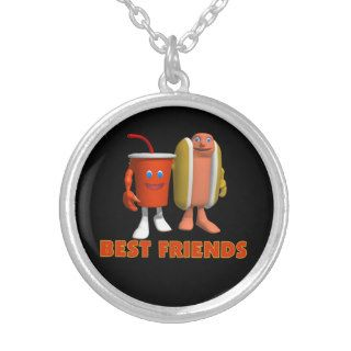 Best Friends Hot Dog & Soda Necklaces