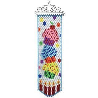 Herrschners Cupcake Celebration Beaded Banner Kit   Jewelry Making Supplies