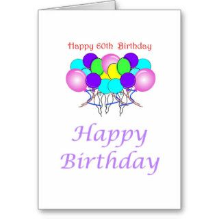 Happy 60th Birthday Gift Cards