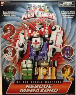 Power Rangers Turbo Rescue Megazord Deluxe Double Morphing Action Figure: Toys & Games