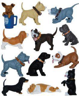 Hood Hounds Series 3 Set of 12 New Loose Dog Figures / Figurines