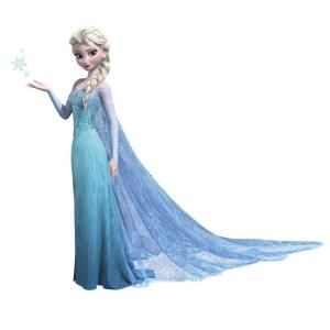 RoomMates 5 in. x 19 in. Frozen Elsa Peel and Stick Giant Wall Decals RMK2371GM