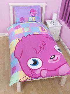 My GN. MOSHI MONSTERS POPPET PANEL SINGLE BED DUVET COVER SET QUILT CHILDREN Baby