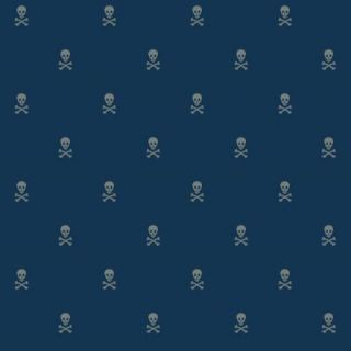 The Wallpaper Company 56 sq. ft. Blue Skull and Cross Bones Wallpaper WC1285318