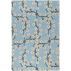 Hand tufted Duke Blue Wool Rug (5' x 8') Surya 5x8   6x9 Rugs