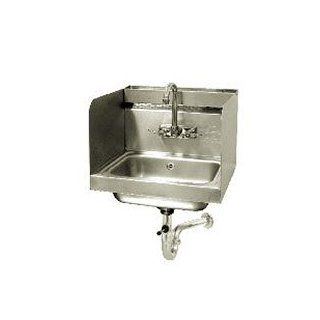 "Advance Tabco 7 PS 76 Hand Sink with 12"" High Side Splash Guards   17 1/4"" x 15 1/4""   Plumbing Equipment"