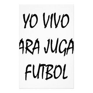 Yo Vivo Para Jugar Futbol Stationery Design