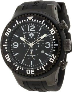 Swiss Legend Men's 11812P BB 01 WA Neptune Chronograph Black Dial Watch Watches