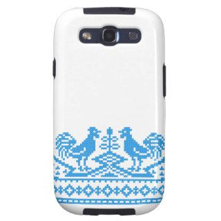 Blue Rooster cross stitch Samsung Galaxy S3 Covers