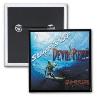 CAST IN BLACK: Surf's Up on Devil Reef Promo Badge Pins