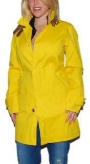 Polo Ralph Lauren Womens Yellow Leather Coat Jacket
