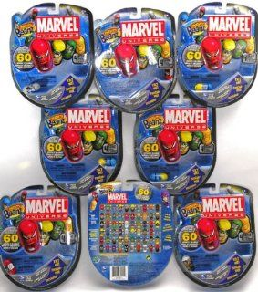 Marvel Universe Mighty Beanz Pack of 4 _ Bundle of 8 Packs: Toys & Games