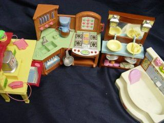 Fisher Price Loving Family Dollhouse Furniture Kitchen, Desk, Bathtub, and Bathroom vanity  Other Products